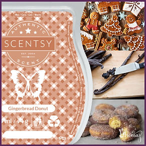 Scentsy UK New Release Gingerbread Donut Wax Bar