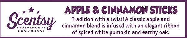 Scentsy Apple and Cinnamon Sticks Fragrance Description