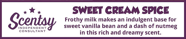 Scentsy Sweet Cream Spice Fragrance Description