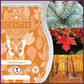 Scentsy UK Painted Leaves Wax Bar