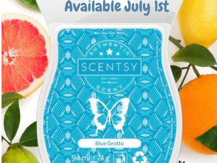 Scentsy Blue Grotto Scentsational Scent coming 1st July 2017