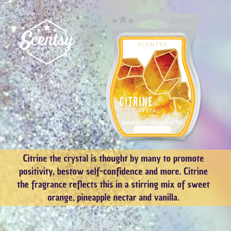 Citrine the crystal is thought by many to promote positivity, bestow self-confidence and more. Citrine the fragrance reflects this in a stirring mix of sweet orange, pineapple nectar and vanilla.