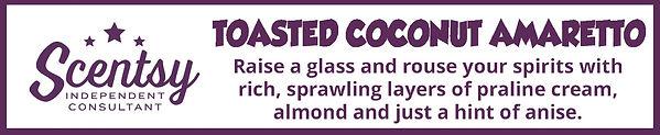 Scentsy Toasted Coconut Amaretto Fragrance Description