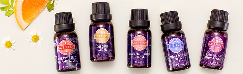 New Scentsy Oils 2018, What oil can I put in a scentsy diffuser, scentsy oil, natural oil, essential oil, aromatherapy oil, diffuser oil, Cherry Berry Chamomile, Coconut Sugar, Grapefruit Blood Orange, Lemon Lavende Rain, Passion Fruit Bamboo Flower
