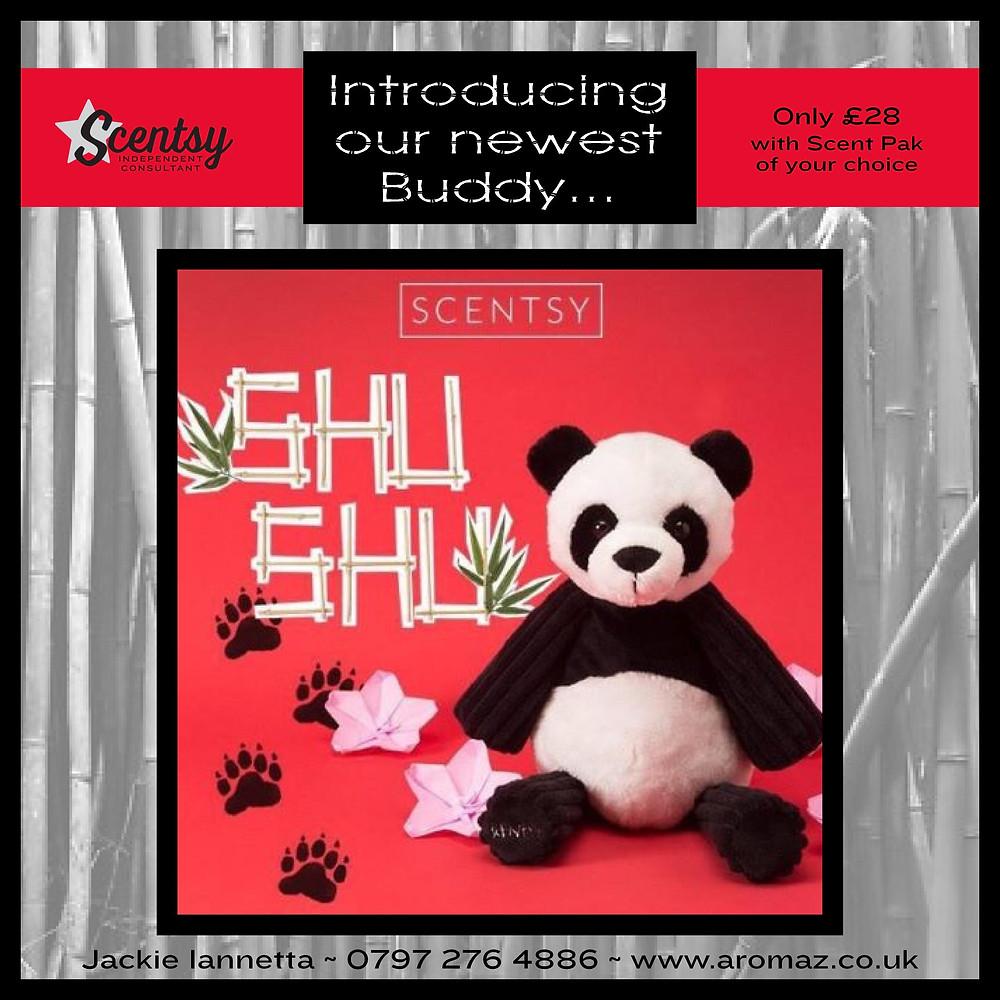 Scentsy, Scentsy Buddy, New Buddy, Shu Shu Buddy, Scentsy Panda, Scentsy Kids, Panda Cuddly Toy