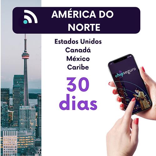 Plano América do Norte + Caribe - 30 dias