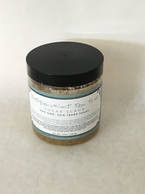 Peppermint Tea Tree Sugar Scrub 10 oz.