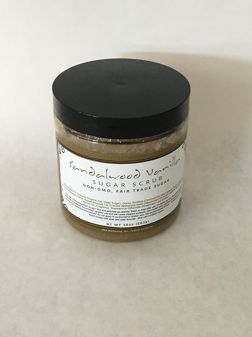 Sandalwood Vanilla Sugar Scrub 10 oz.