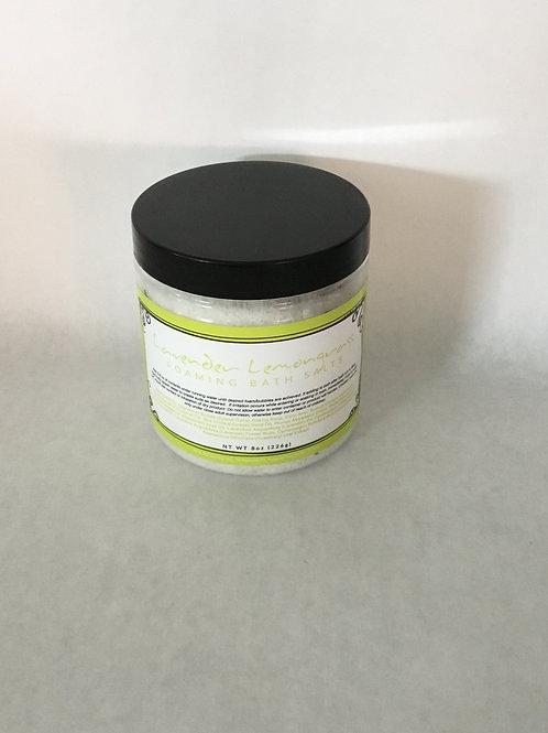 Lavender Lemongrass Foaming Bath Salt 8 oz.