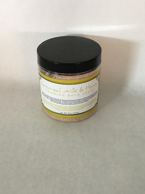 Oatmeal Milk & Honey Foaming Bath Salt 8 oz.