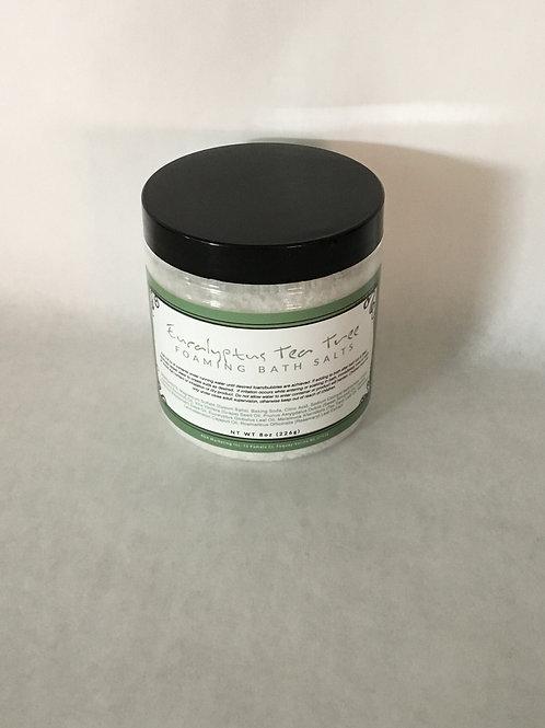 Eucalyptus Tea Tree Foaming Bath Salt 8 oz.