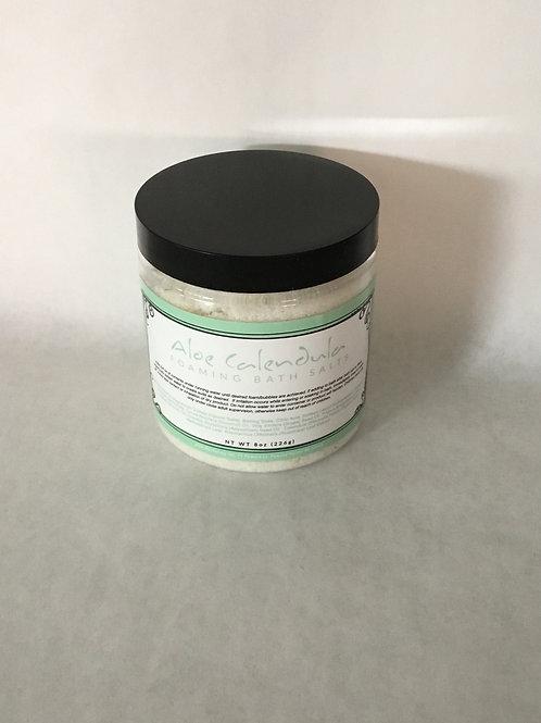 Aloe Calendula Foaming Bath Salt 8 oz.
