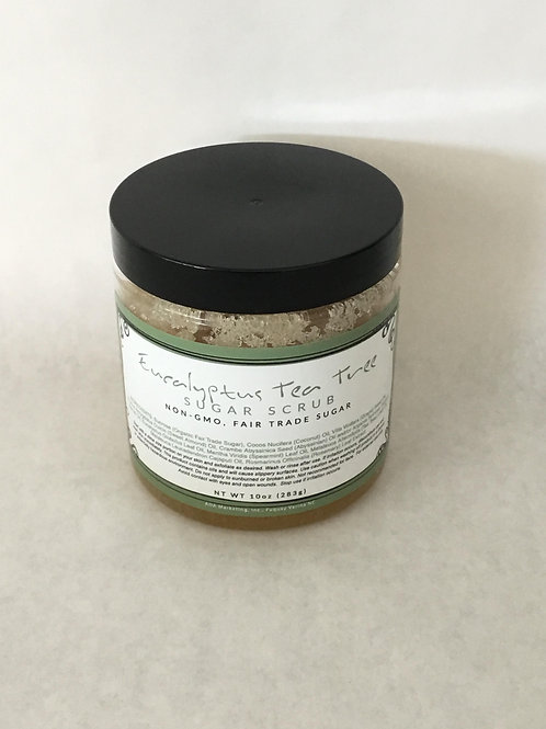 Eucalyptus Tea Tree Sugar Scrub 10 oz.