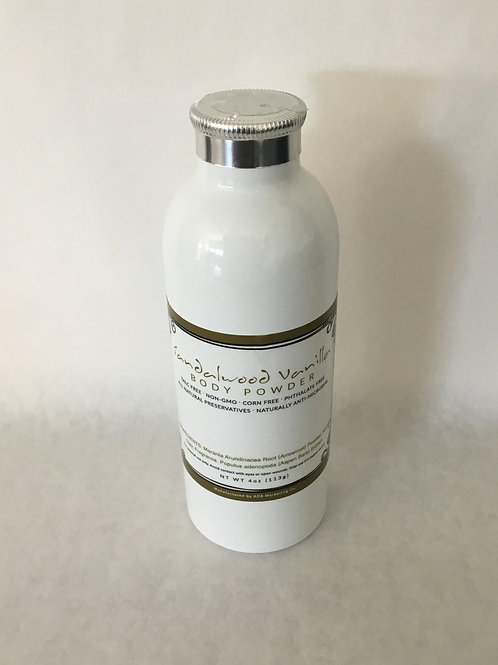 Sandalwood Vanilla Body Powder 4 oz.