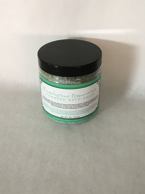 Eucalyptus Spearmint Foaming Bath Salt 8 oz.