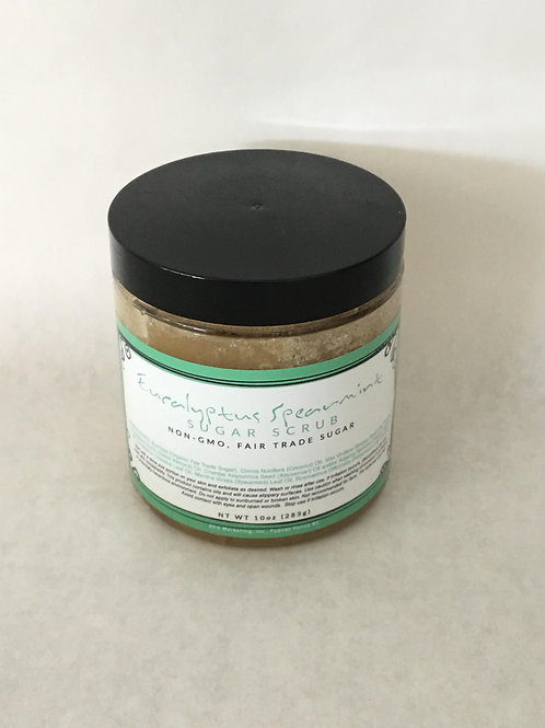 Eucalyptus Spearmint Sugar Scrub 10 oz.