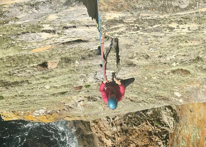Rock climbing Isle of Skye.