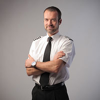 Airplane Pilot Portrait