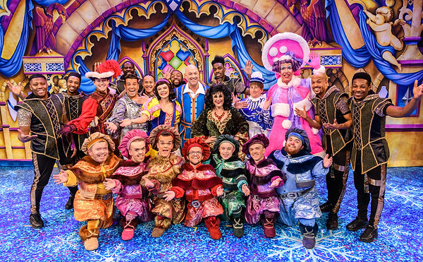 The cast of Snow White and the Seven Dwa