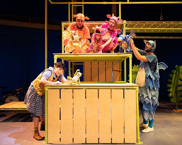 The cast of ZOG. Photo Credit Helen Mayb