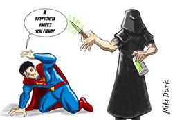 Miki Dark vs Superman