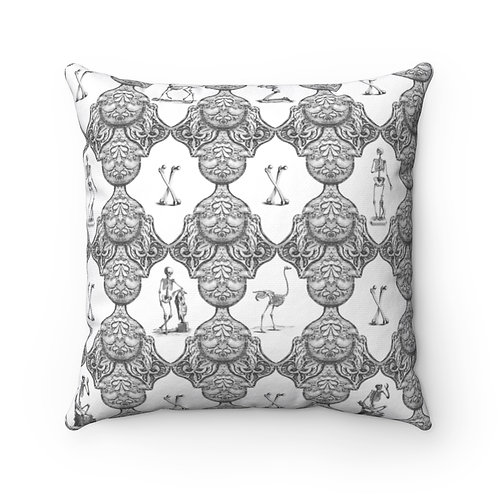 Bathhouse Wallpaper Limited Edition Print Square Pillow Case