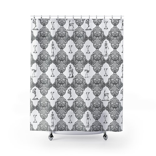 Bathhouse Wallpaper Limited Edition Print Shower Curtains