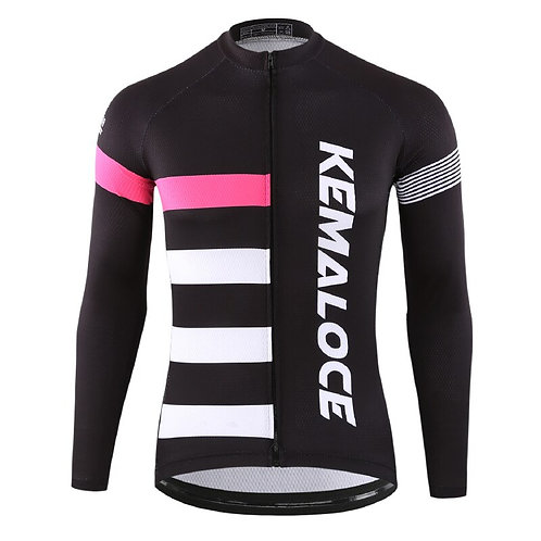 KEMALOCE Sun-Protective Long Sleeve Cycling Jersey