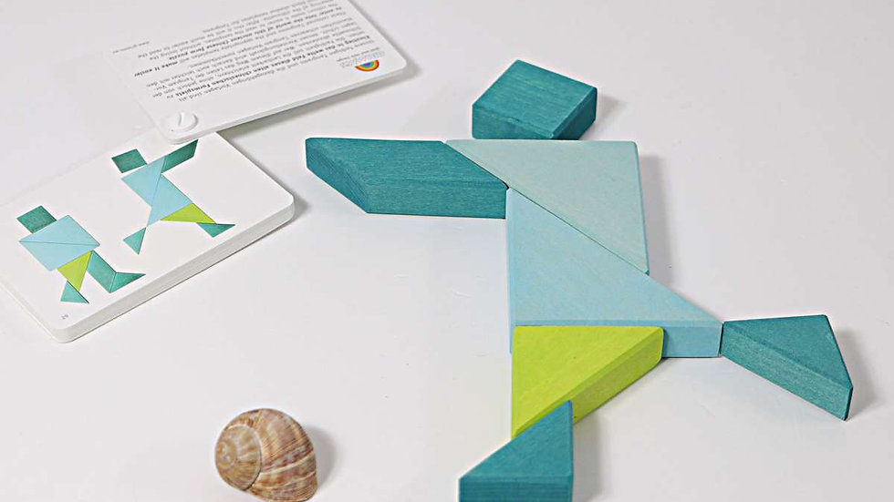 Grimm's Tangram Turquoise