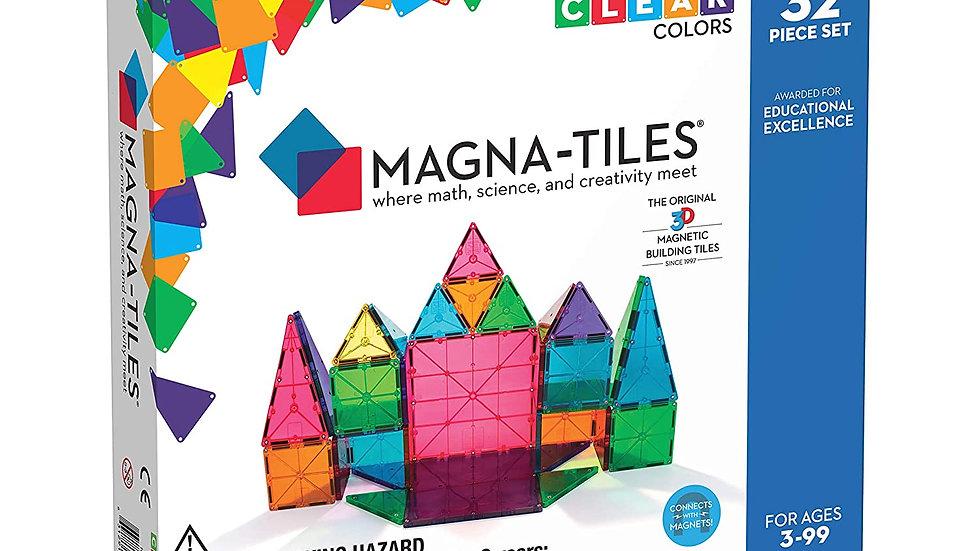 Magna-Tiles 32 Piece Clear Colors Set