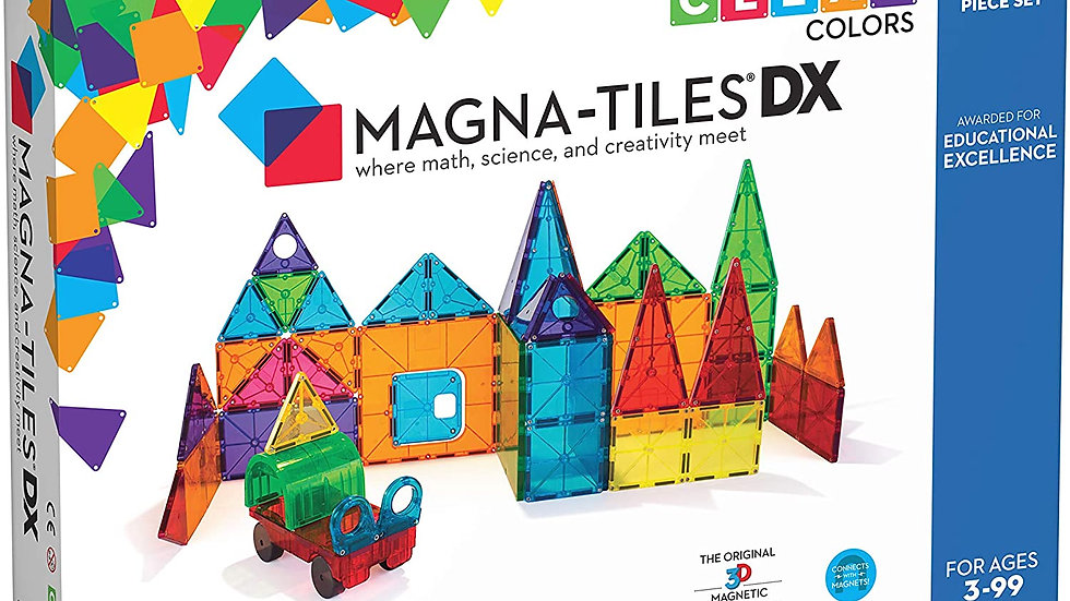 Magna-Tiles 48-Piece Clear Colors