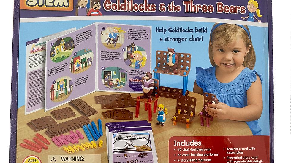 Lakeshore STEM Fairy Tales Problem Solving Kit - Goldilocks & the Three Bears