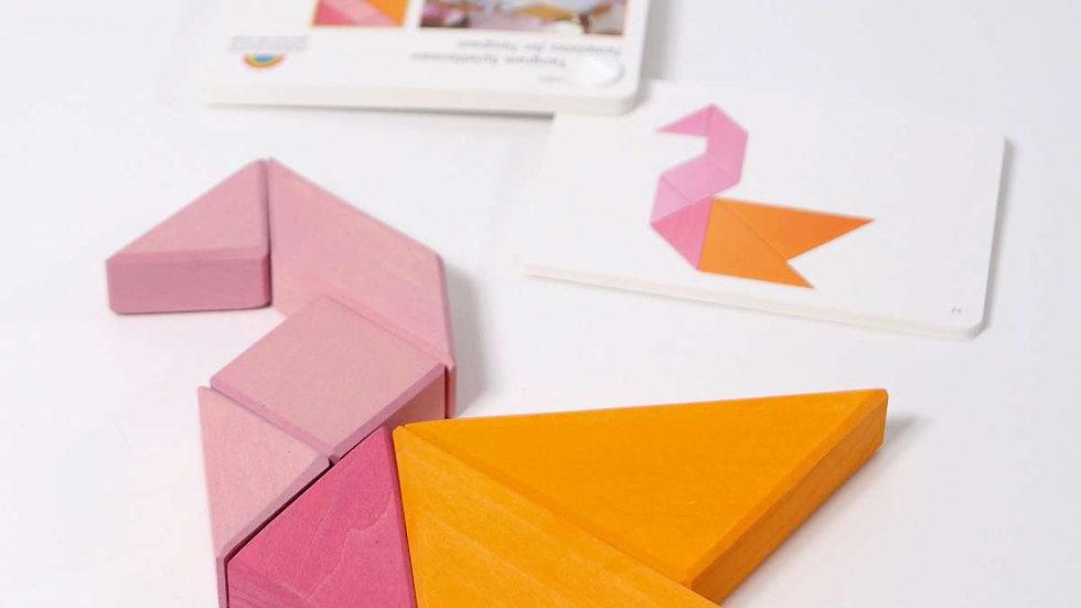 Grimm's Tangram Pink-Orange
