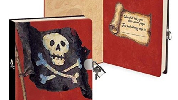 Peaceable Kingdom Pirates Diary With Lock