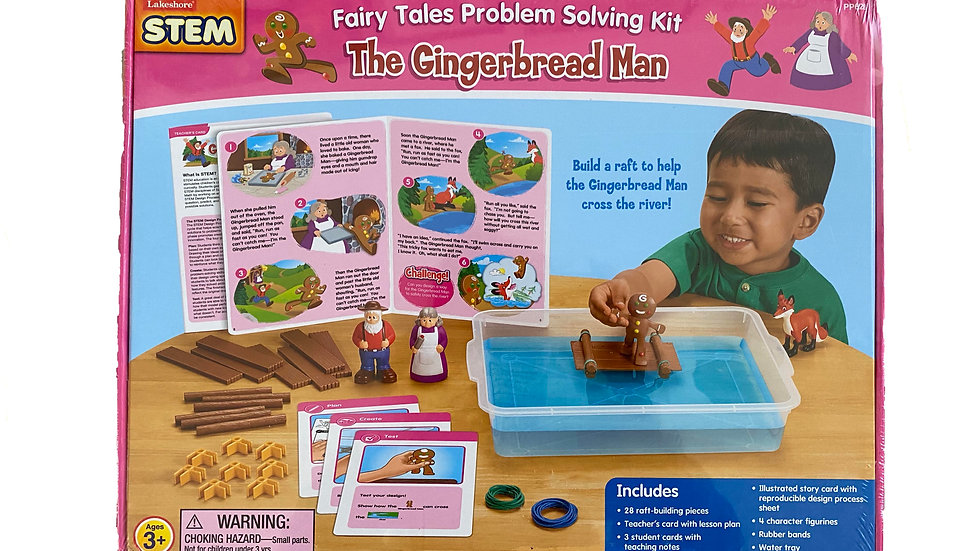 Lakeshore STEM Fairy Tales Problem Solving Kit - The Gingerbread Man