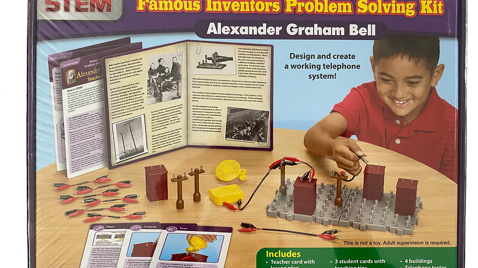 Lakeshore STEM Famous Inventors Problem Solving Kit - Alexander Graham Bell