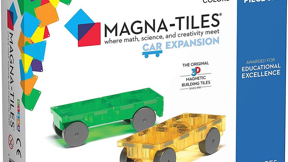 Magna-Tiles 2-Piece Car Expansion Set