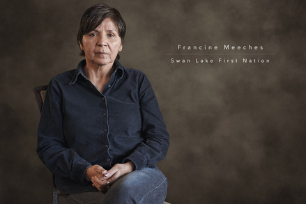 Francine Meeches - Swan Lake First Nation by Réjean Brandt Photography. Winnipeg, Manitoba portrait photographer