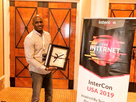 """Chris Rich was Honored With the """"Top 50 Tech Visionaries"""" Award at InterCon, Las Vegas 2019"""