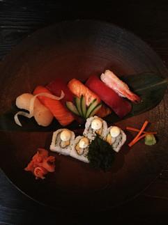 Platte der Sushi
