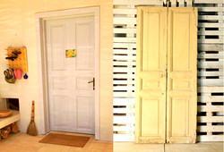 דלת עתיקה משופצת, לפני ואחרי