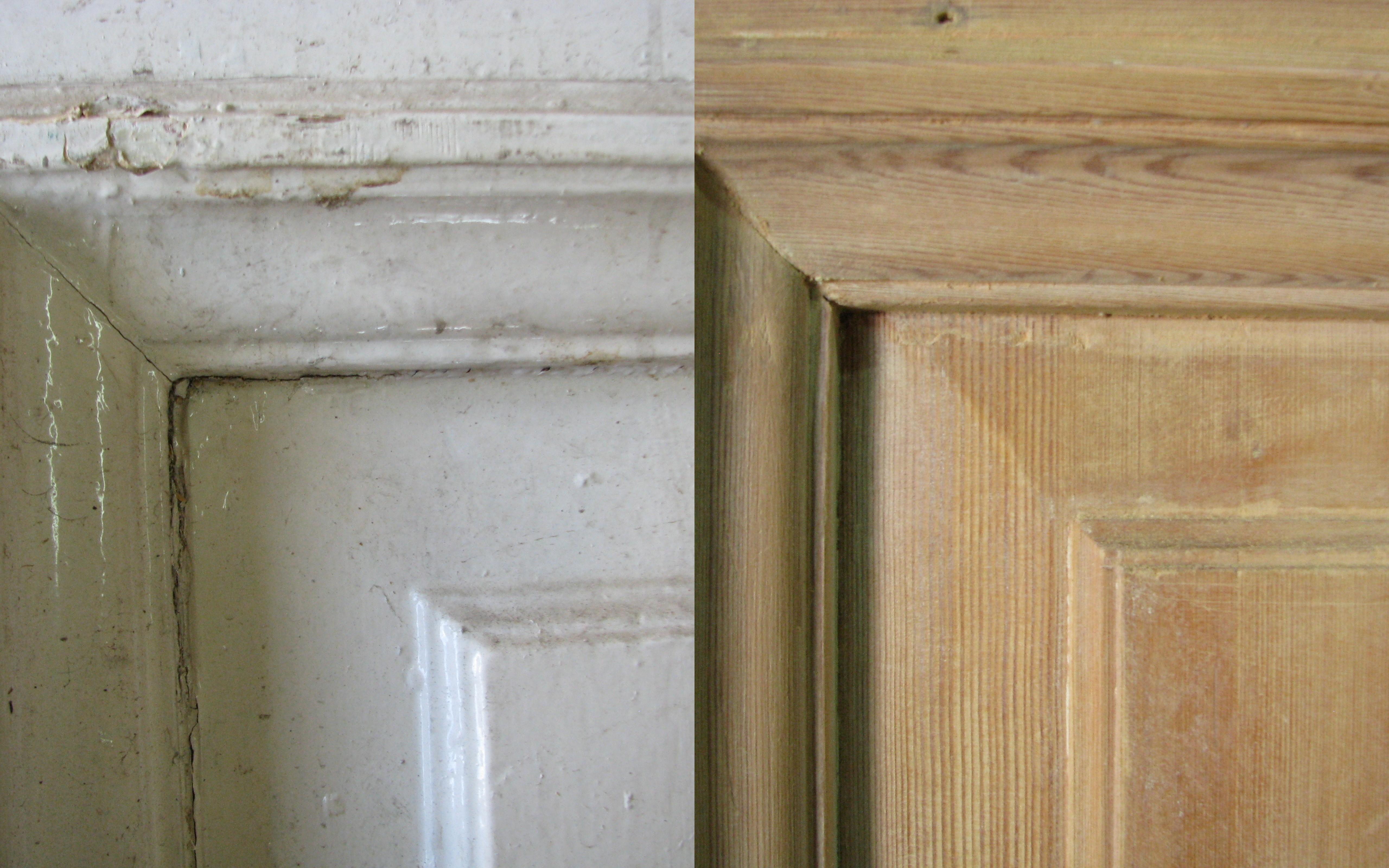 שיפוץ דלת עתיקה - לפני ואחרי
