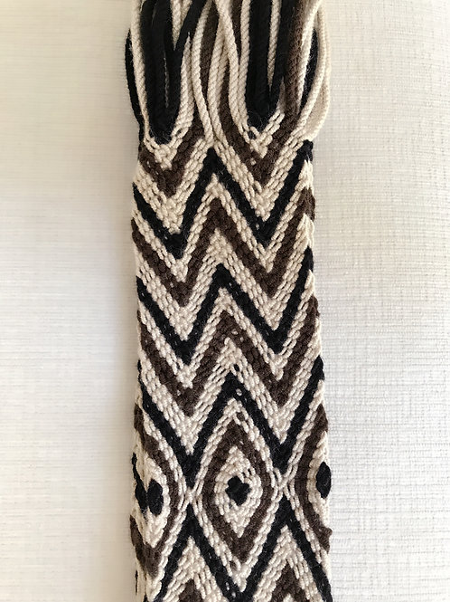 Brown Chevron Wayuu Yoga Strap
