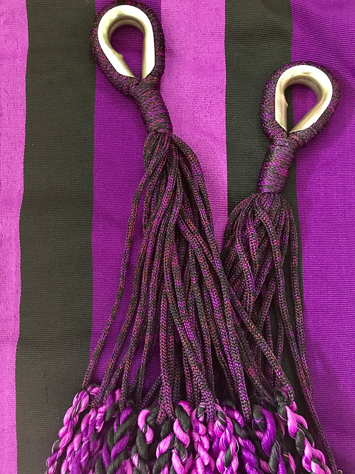 Purple and Black Hammock