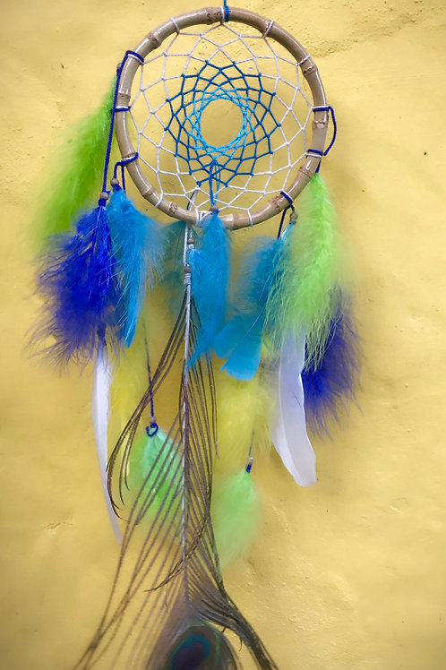 Bamboo Peacock Dream Catcher
