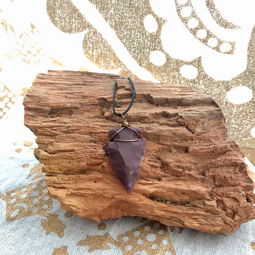 Wired Arrowhead Necklace