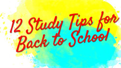 Study Tips for Back to School