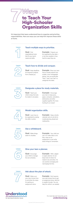 Time to Organize - Organizational Skills