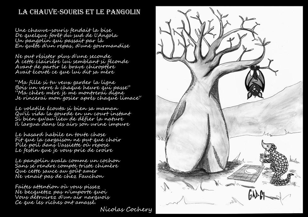 LA CHAUVE-SOURIS ET LE PANGOLIN