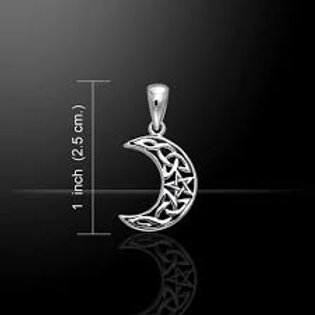 Celtic Moon Magick Knot Sterling Silver Pendant